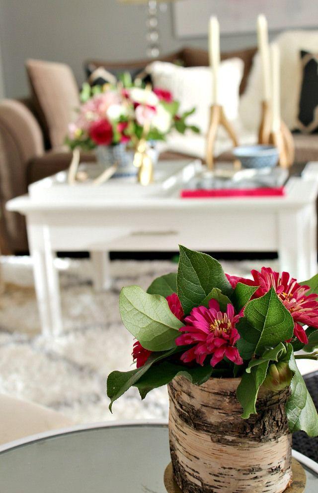 Bark Wrapper Vase Diy How To Ideas Decor Fall Home Tour Flowers