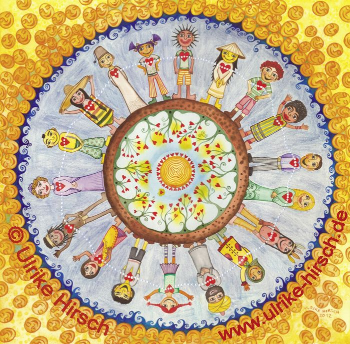 Illustration Wundervolle Menschheit Von Ulrike Hirsch Mehr Unter