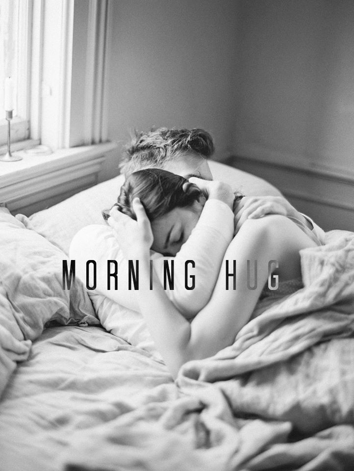 Good Morning Hugs And Kisses On Bed : morning, kisses, ☆What, Amazing, Feeling, Beside, Person, Love,, Every, Morning,, Asleep…, Morning, Hugs,, Couple