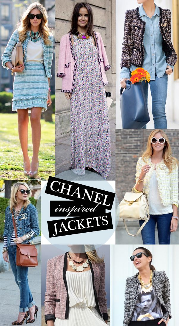 8e378454 Chanel Inspired Jackets via @glitterguide | F A S H ! O N E D in ...