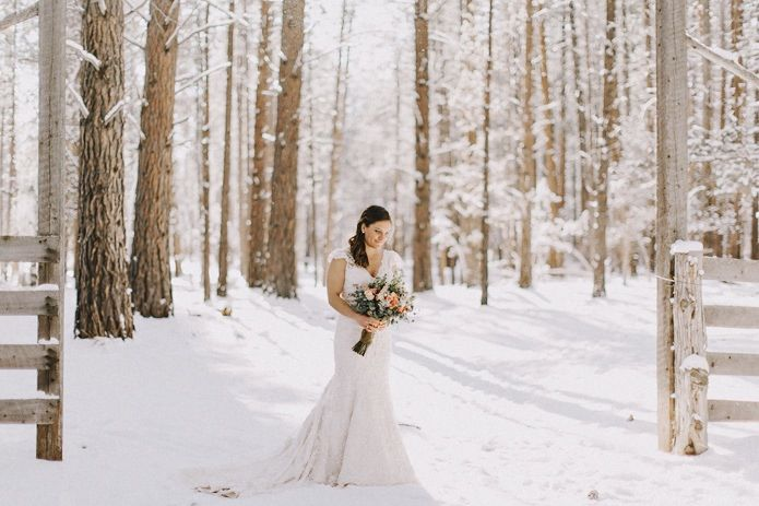 winter wedding - love this shoot in the snow