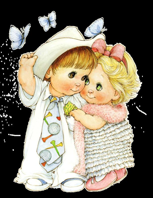 Картинка мальчик с девочкой для детей, 2014