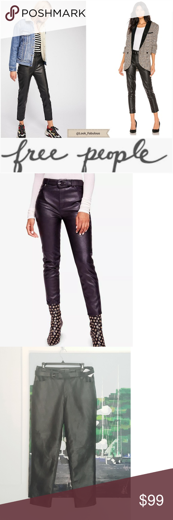 High Waisted Vegan Leather Ankle Leggings In 2020 Ankle Leggings Vegan Leather Leggings Are Not Pants