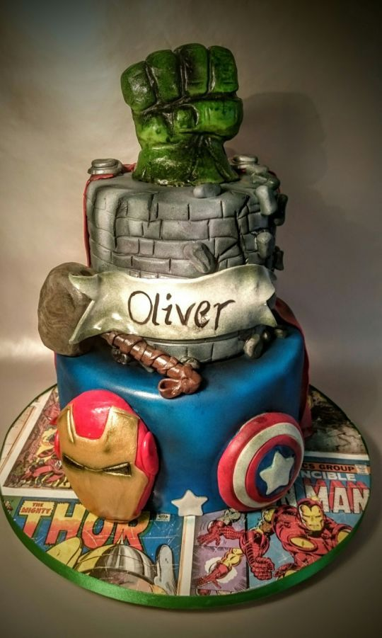 Marvel Avengers Hulk smash cake for Henry Pinterest Smash