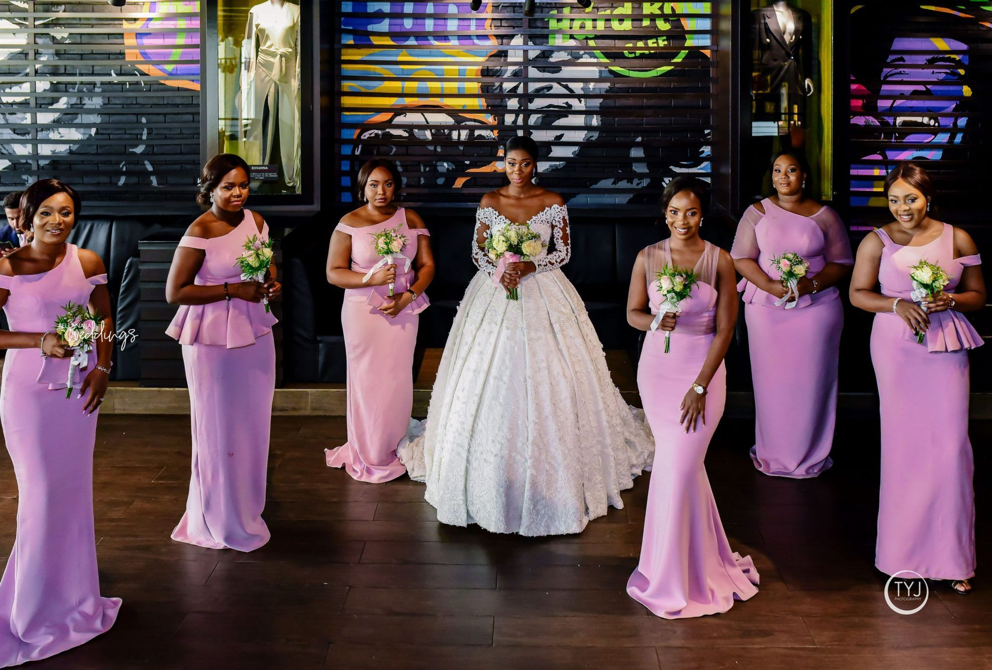 This Bride Made A Fashion Statement In 2 April By Kunbi Dresses For Her Wedding Bellana Bridal Shower Dress Bella Naija Weddings Beautiful Bridesmaid Dresses