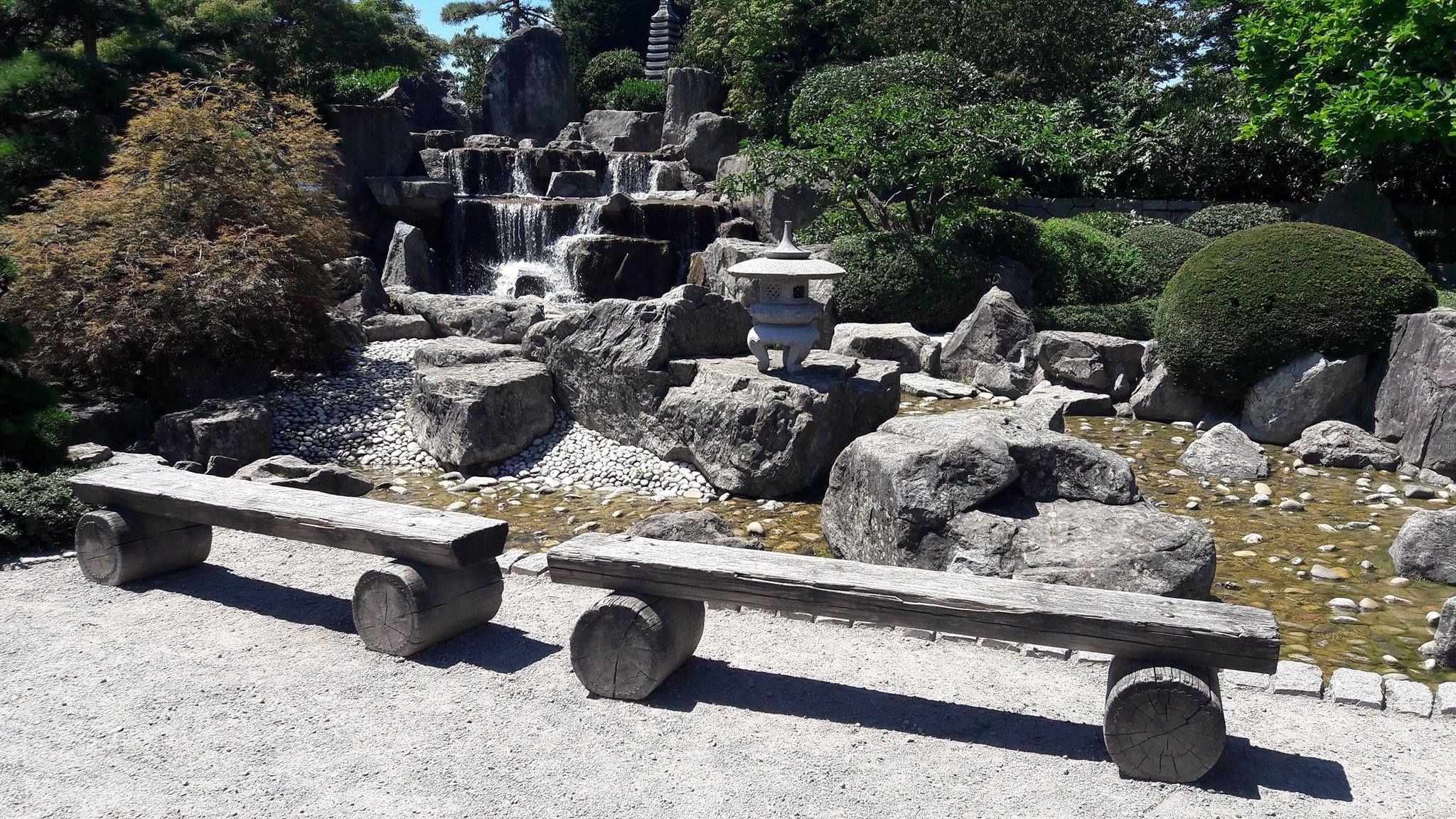 Japanischer Garten In Freiburg Japanischer Garten Gartenbank Holz Garten