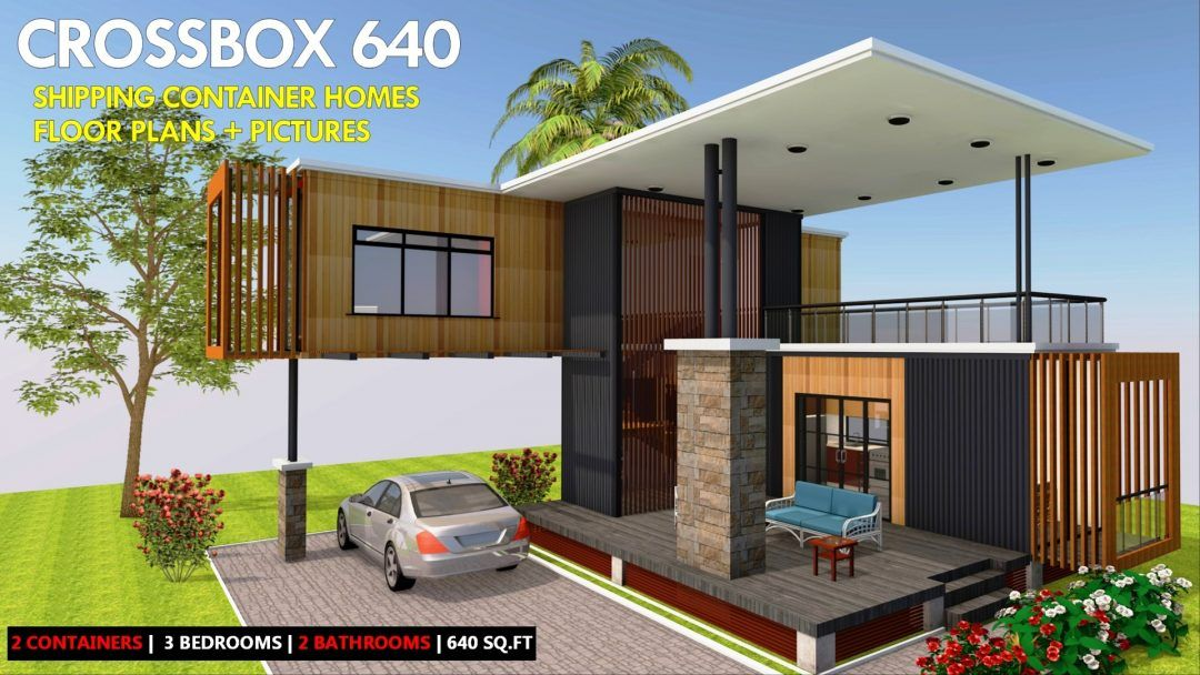 Boxhaus 640 Modern Shipping Container Homes Plans Container House House Plans House Design