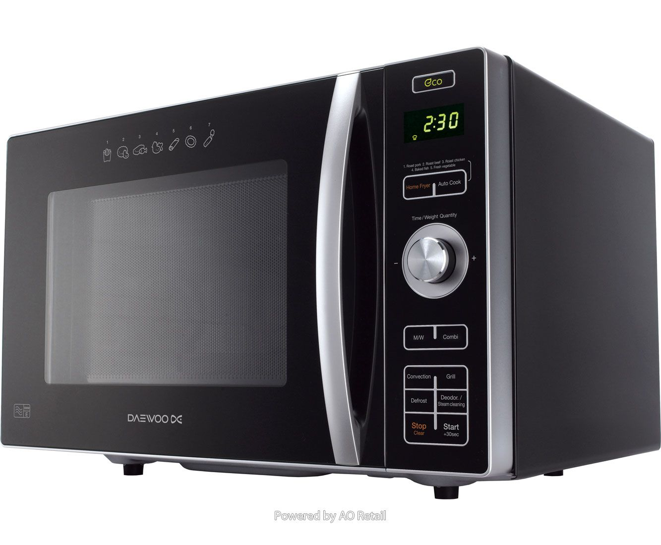 Combination Microwave Oven Daewoo With Fat Free Fryer Koc8hafr 24 Litre Combination Microwave