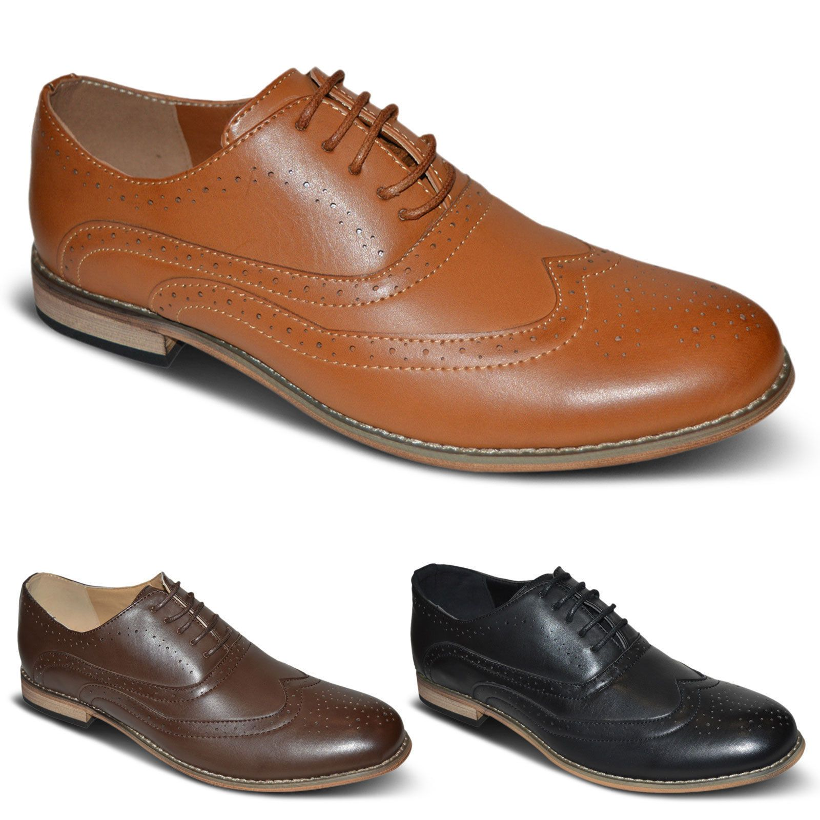 BRAND NEW MEN'S STUNNING WEDDING PARTY WORK OFFICE LACE UP SHOES UK SIZE 6-11