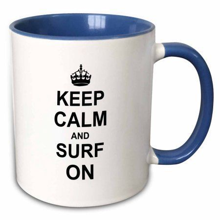 3dRose Keep Calm and Surf on carry on surfing hobby or