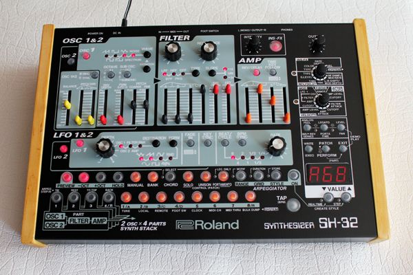 custom roland sh 32 synths in 2019 dj gear electronic music music. Black Bedroom Furniture Sets. Home Design Ideas
