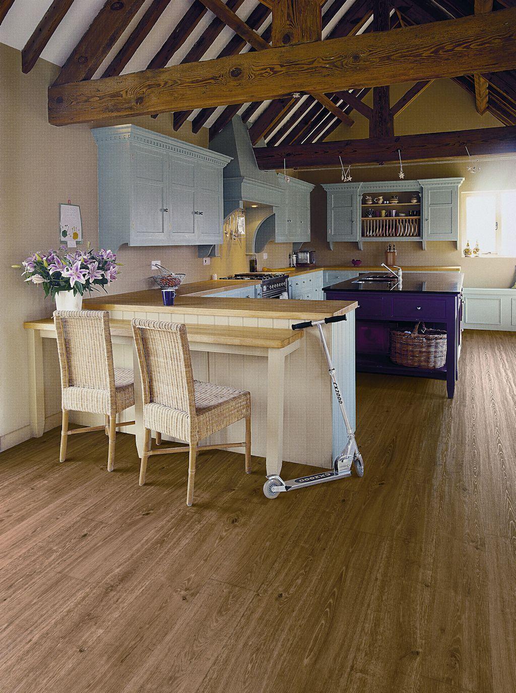 Kitchen Vinyl Sheet Flooring Kitchen Featuring Secura Pur Luxury Vinyl Sheet Flooring In