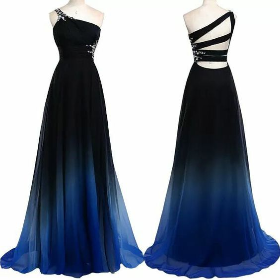 New Arrival Chiffon Prom Dress,Long Prom Dresses,One Shoulder Prom ...