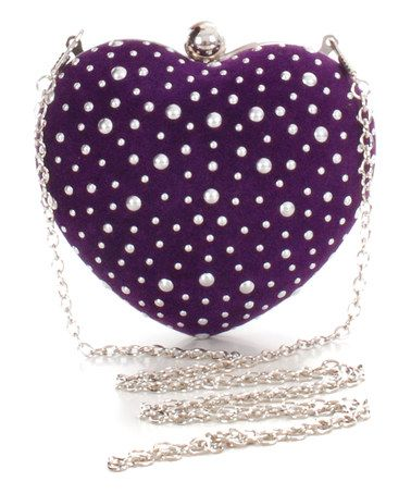 469382f981 Purple Pearl in The Heart Clutch by Pink Cosmo