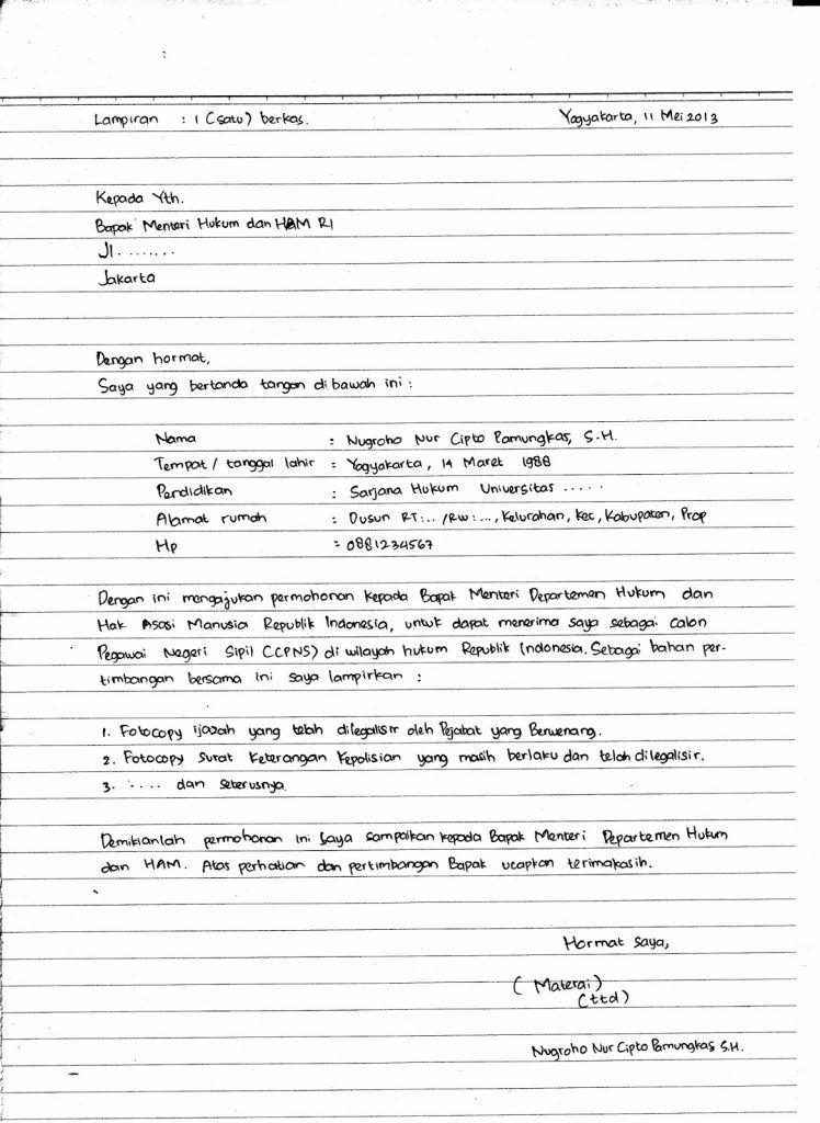 Contoh Surat Lamaran Kerja Tulisan Tangan Hd Contoh Lif Co Id