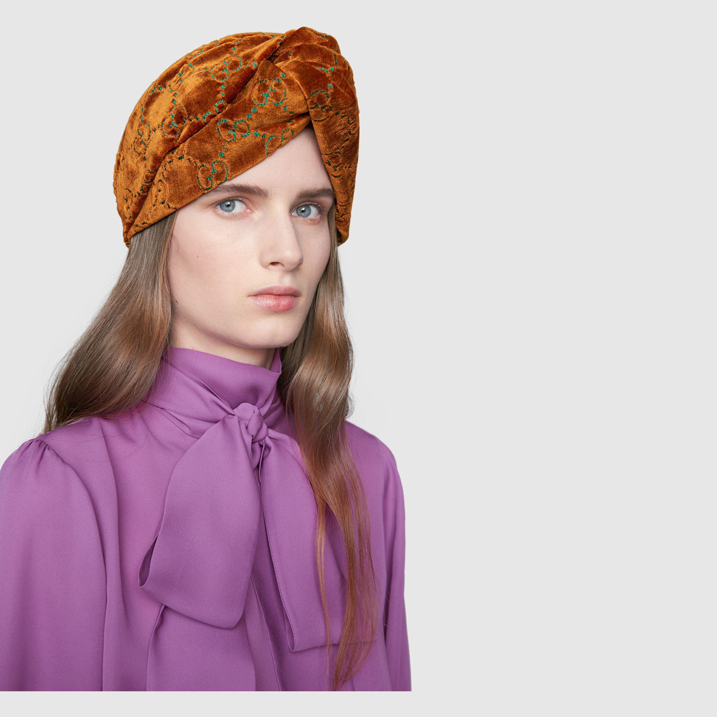 13edf30ad4 GG velvet headband - Gucci Women's Headbands 5237873GA647700 ...