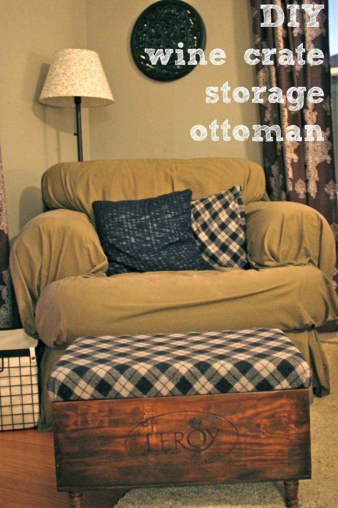 DIY wine crate storage ottoman DIY home furniture | Crafty/DIY ...