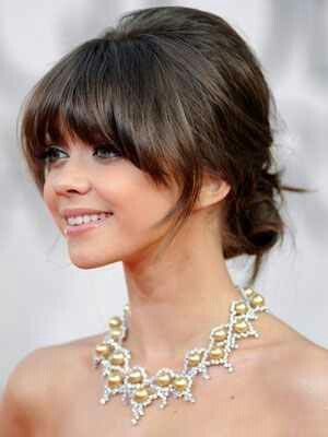 Best Golden Globe Awards Beauty Trends Hair Styles Fringe Hairstyles Bridesmaid Hair