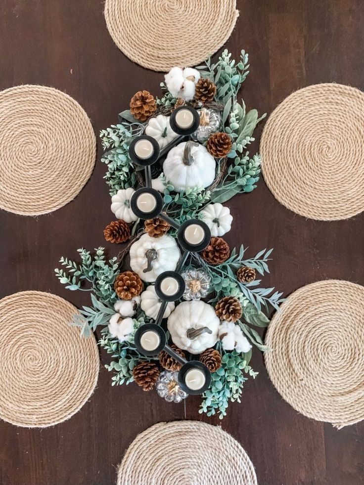 How to make a simple DIY Fall Table Centerpiece that will make a statement on an…