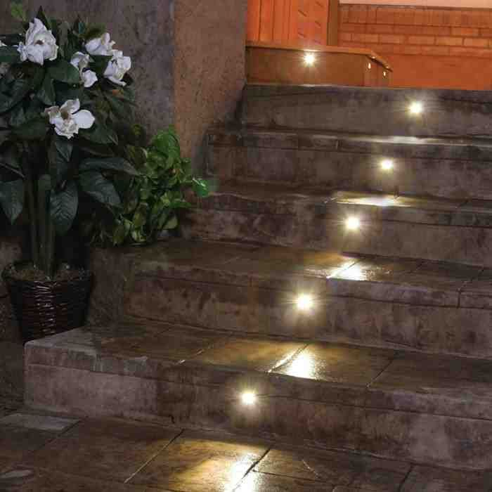 recessed outdoor led step lights led outdoor lighting pinterest