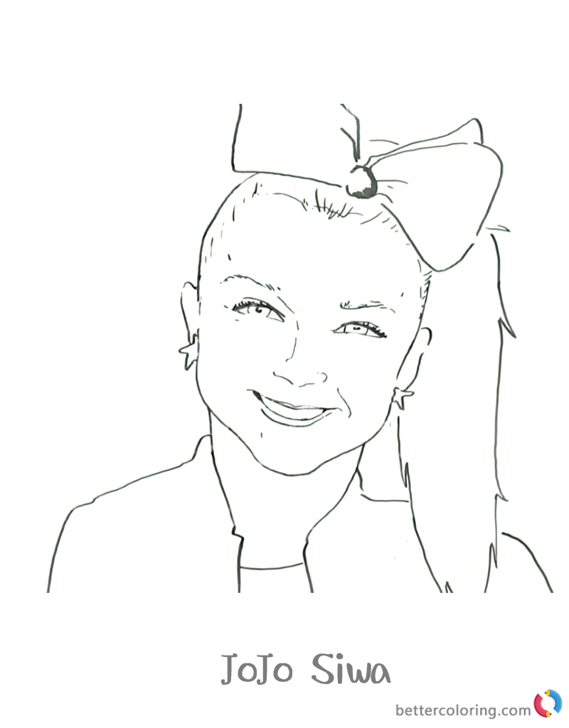 JOJO Siwa Coloring Pages Coloring pages, Jungle coloring