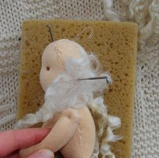 Needle felting locks for hair