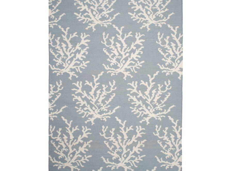 Sea Coral Dhurrie Rug - Venetian Blue | Area-rugs | Panels-and-rugs | Z Gallerie