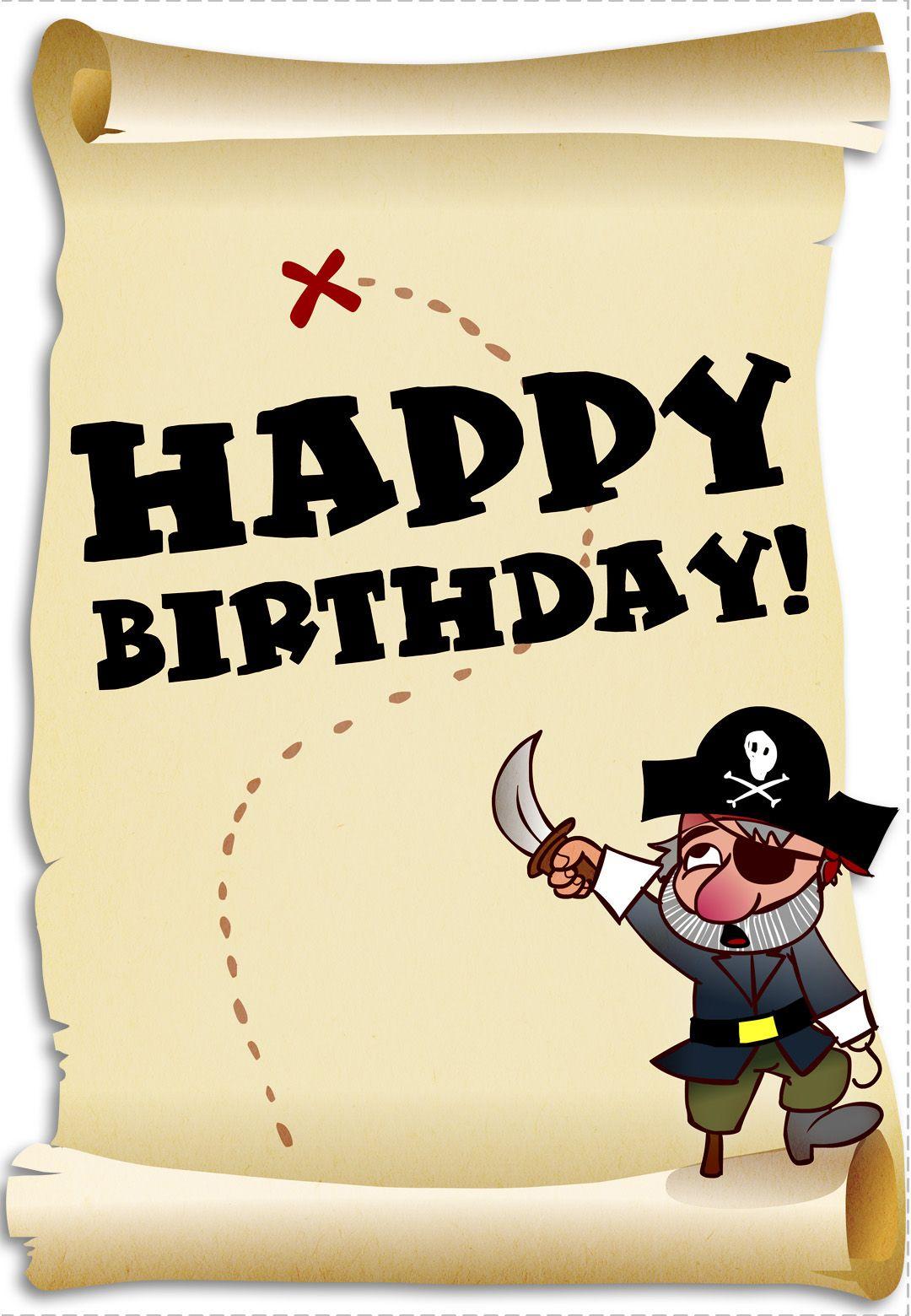 Free Printable Birthday Pirates Greeting Card   craft ...