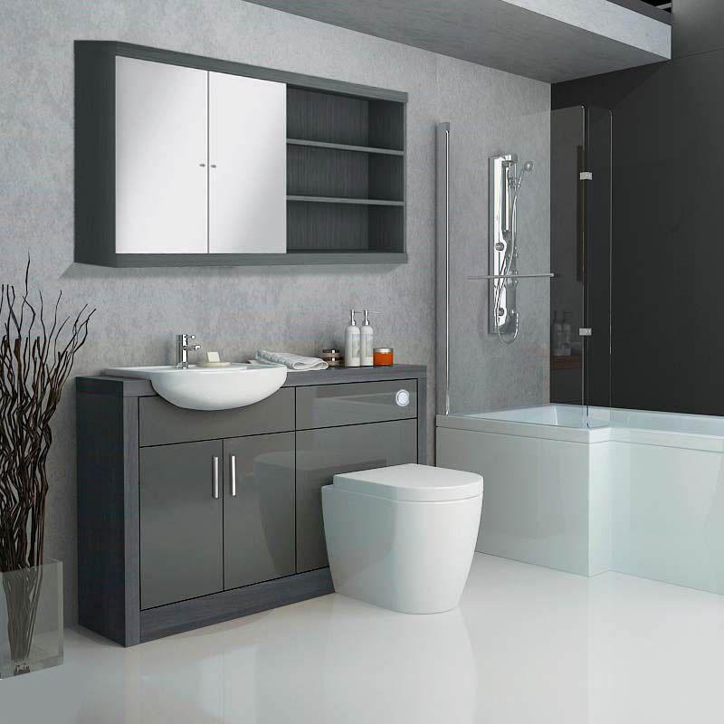 Hacienda Fitted Furniture Pack Grey Buy Online At Bathroom City In 2020 Fitted Bathroom Furniture Fitted Bathroom Fitted Furniture