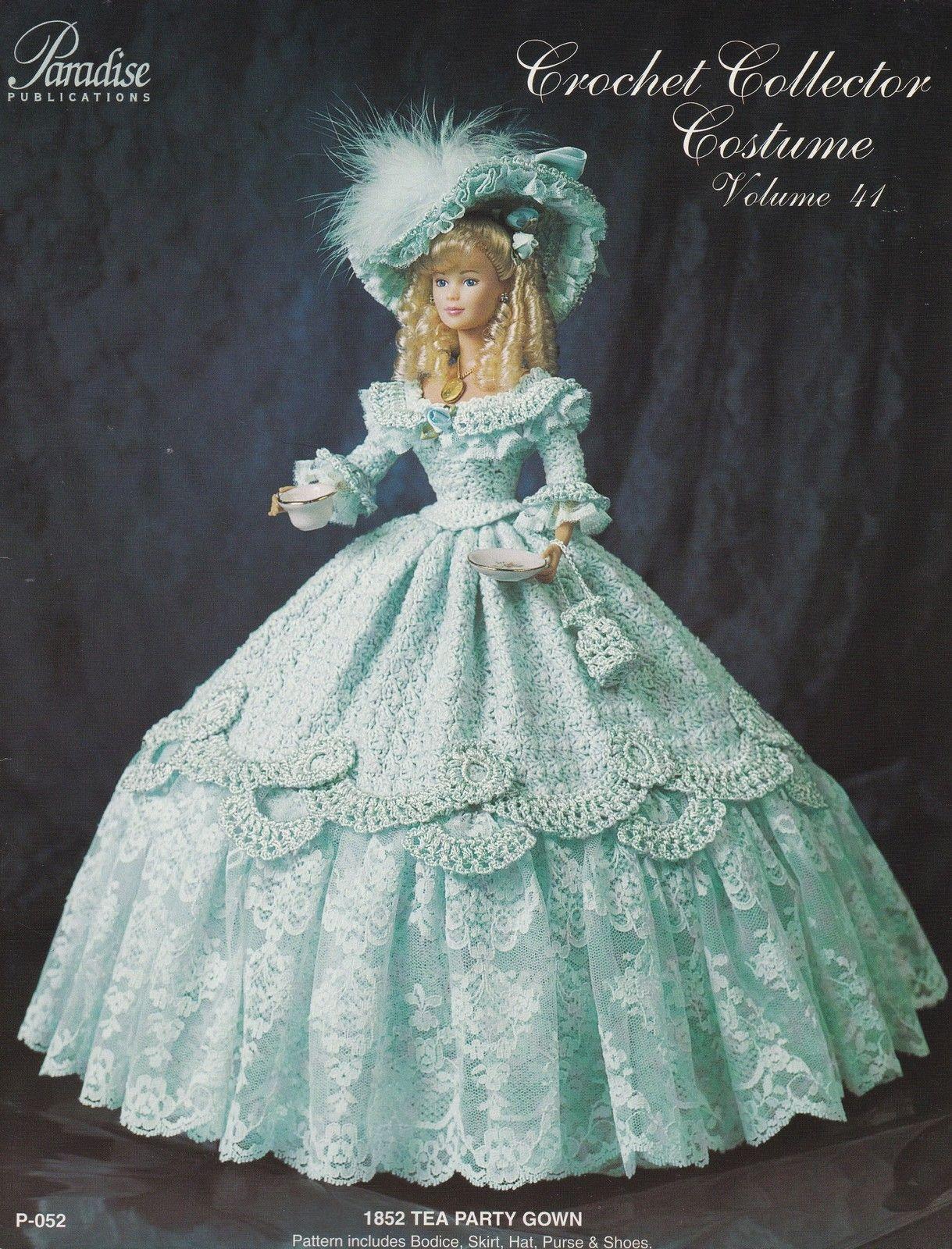 1901 Wedding Reception Frock for Barbie Paradise vol 11 Crochet PATTERN NEW