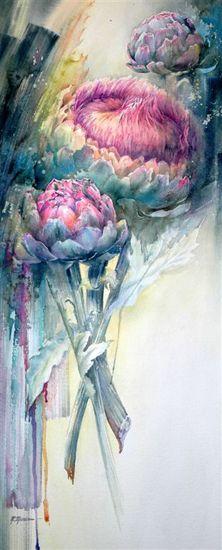 Moudru Marie Claire Art Painting Watercolor Art Watercolor Artwork