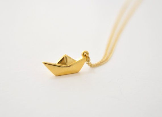 Paper Boat Necklace Origami By Rotemagmon Necklace Inspiration