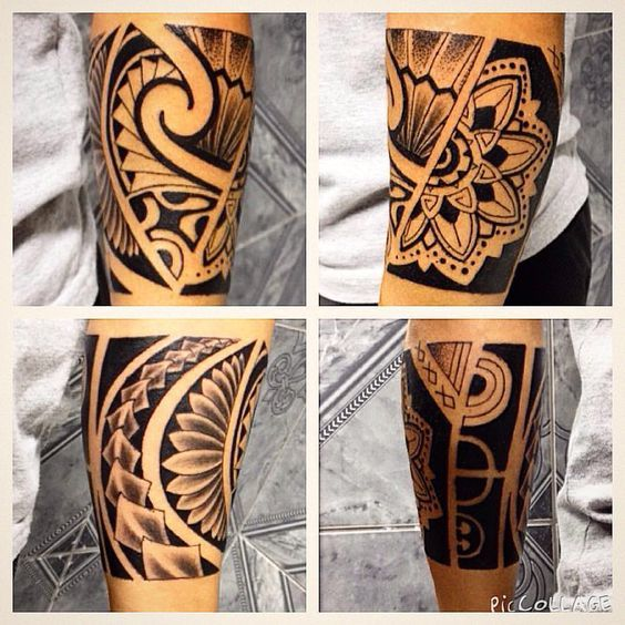 tattoo maori na perna bracelete - Google Search