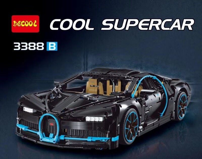 Best Price In Stock Dhl Chiron Car Bugattied 3625pcs Racing Decool