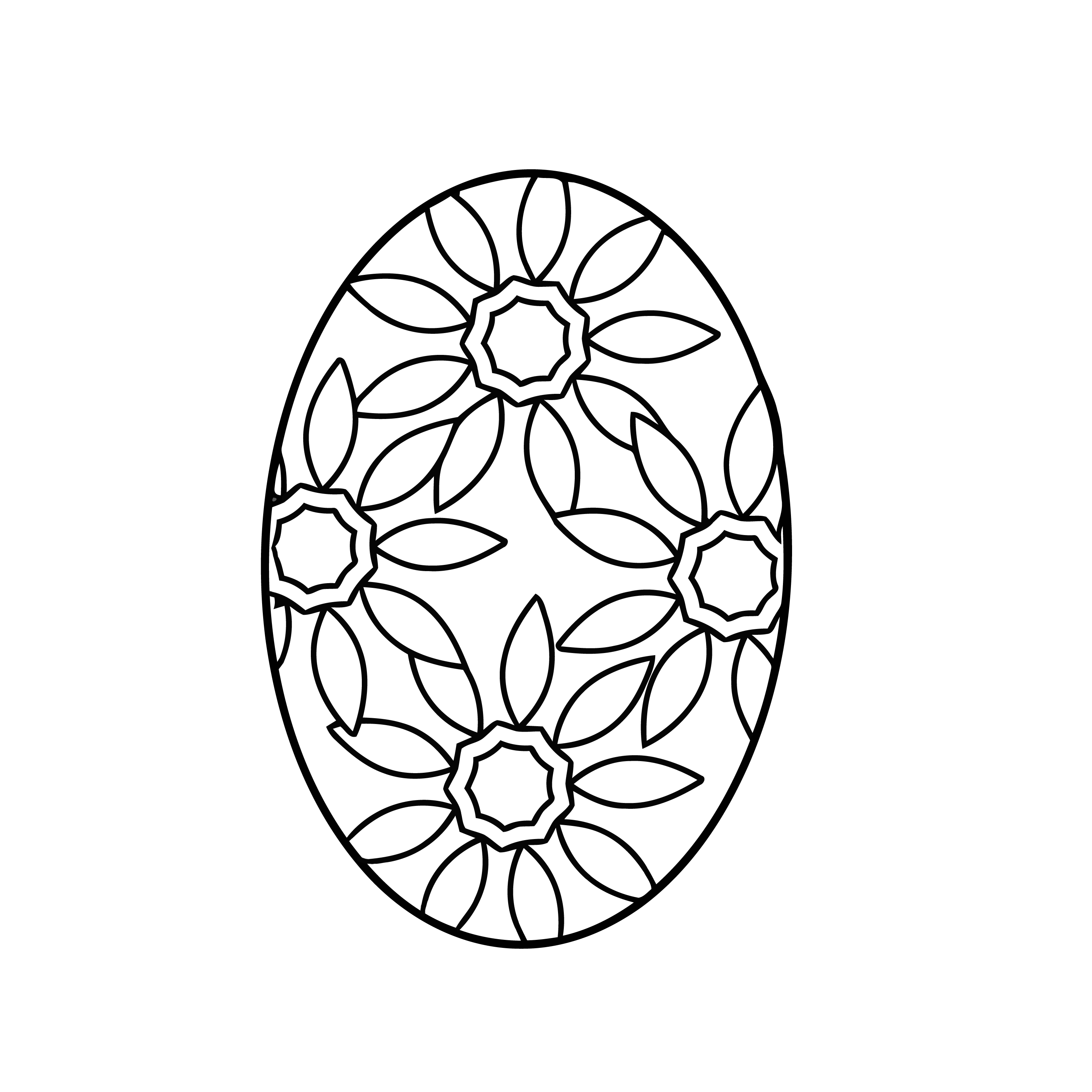 easter egg coloring page flowered | yooall. | Easter | Pinterest ...