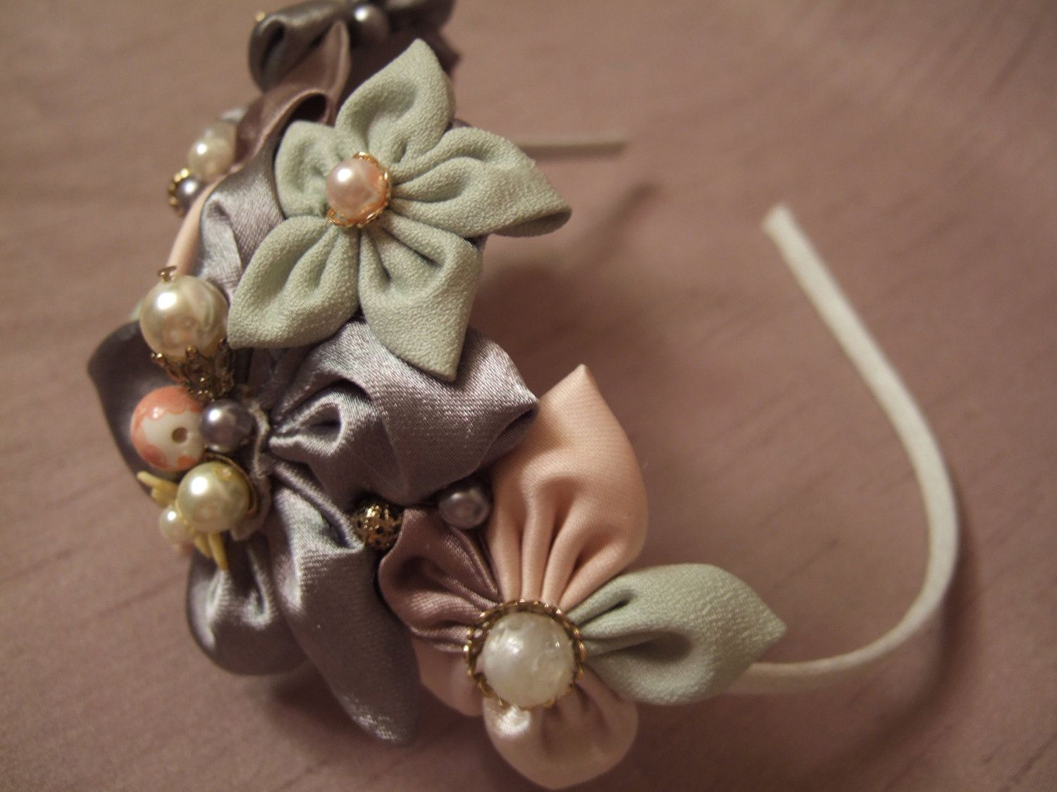 Vintage inspired shabby fabric star flower by earthandfeather, $68.00