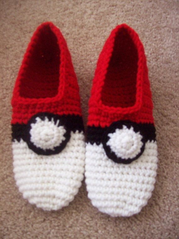 Made to Order Pokemon Pokeball Slippers / Choose a color/ Kawaii ...