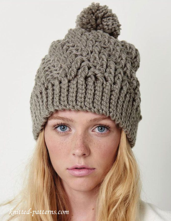 Crochet Winter Hat Pattern Free Lets Crochet Pinte