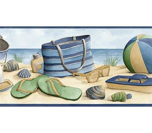 Free Download Beach Wall Border By Surf Room Designer Dean Miller For Desktop Mobile Tablet 500x4 In 2021 Coastal Wallpaper Beach Themed Wallpaper Beach Wallpaper