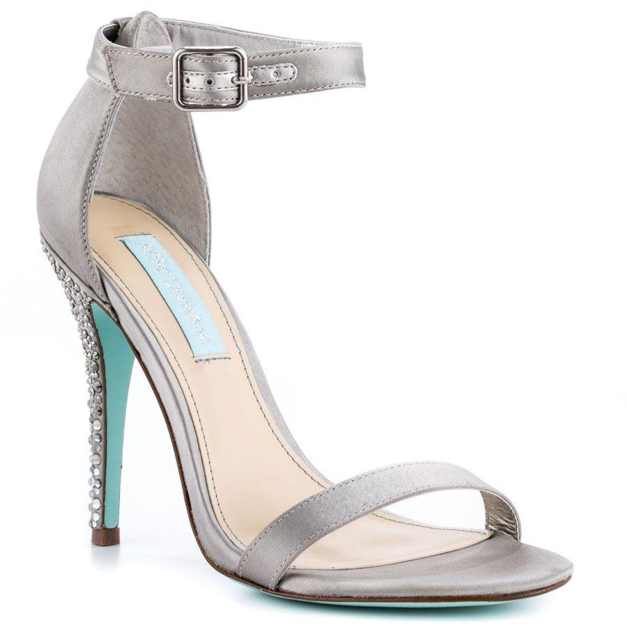 Bells - Silver Satin | Betsey johnson, Satin and Hot heels