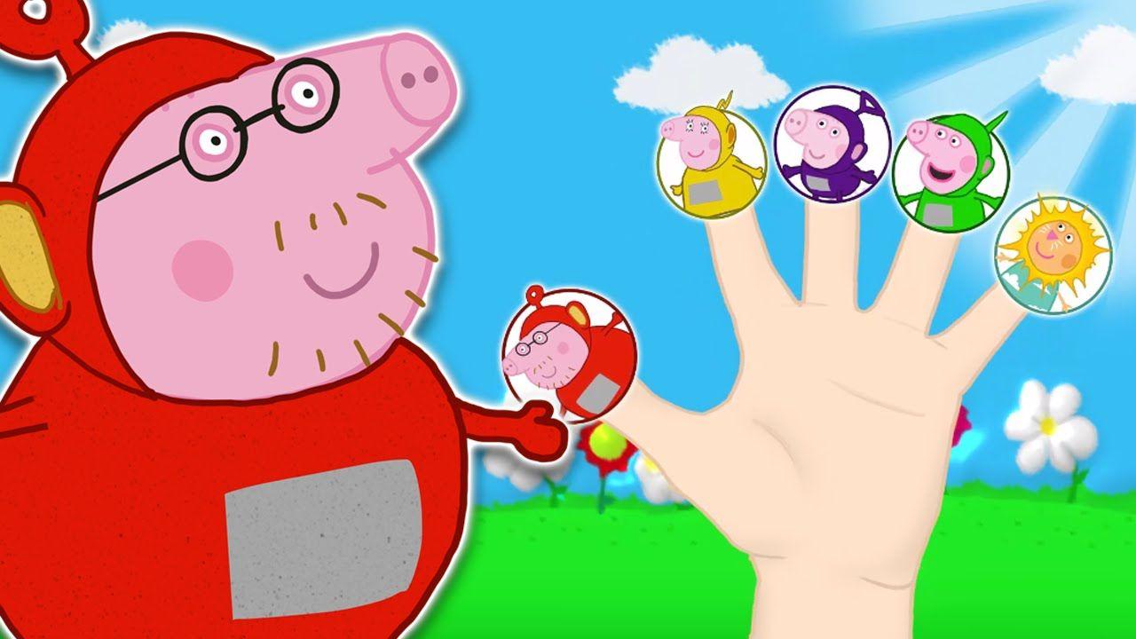 Fetching Peppa Pig Teletubbies Finger Family Nursery Rhymes Lyrics