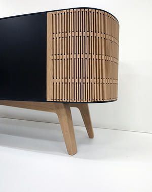 Mr A Linea: A Sideboard Furniture Based On The Flexibility Of Laser Cut Wood