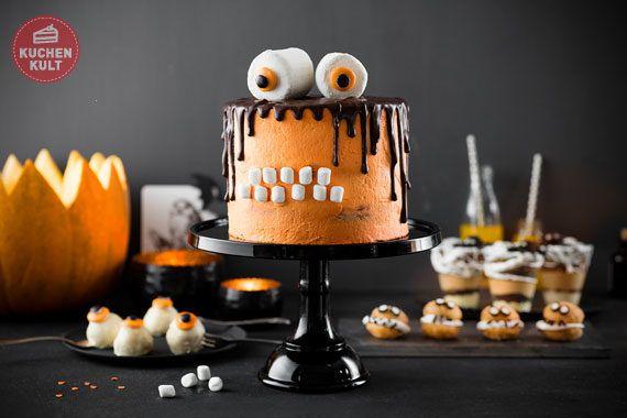 monstertorte rezept halloween snacks torte selber machen halloween torten pinterest. Black Bedroom Furniture Sets. Home Design Ideas