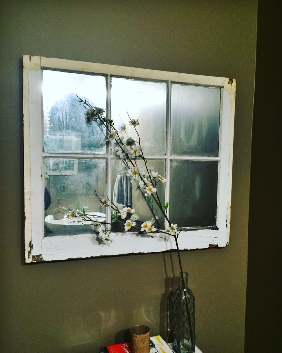 25 Diy Project An Old Window And Rustoleum Mirror Effect Paint Window Art Mirror Effect Paint Mirror Effect