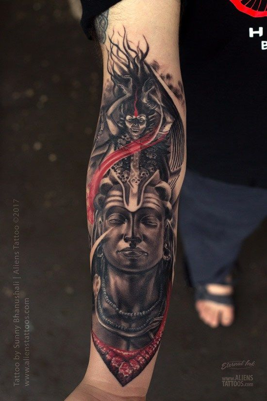 65e5774f3 best lord shiva tattoo designs | Tatuagens | Shiva tattoo, Kali ...