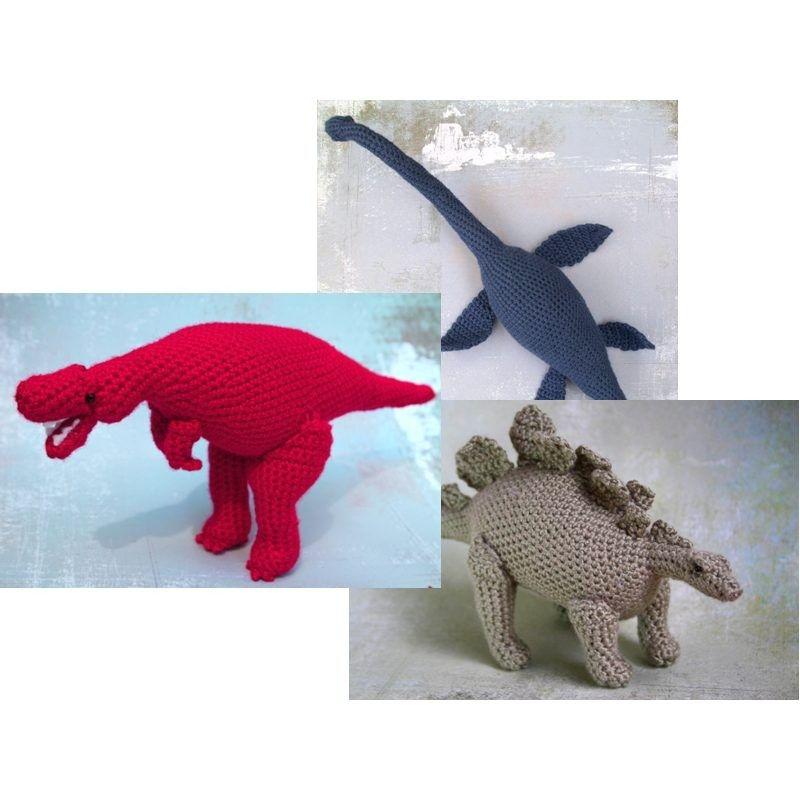 Asombroso Crochet Patrón De Dinosaurio Libre Imágenes - Ideas de ...