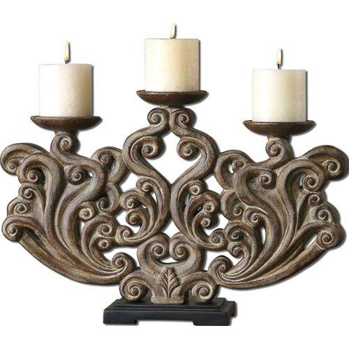 Terrific Brown Linley Candleholder Uttermost Candleholders Candle Interior Design Ideas Gentotryabchikinfo