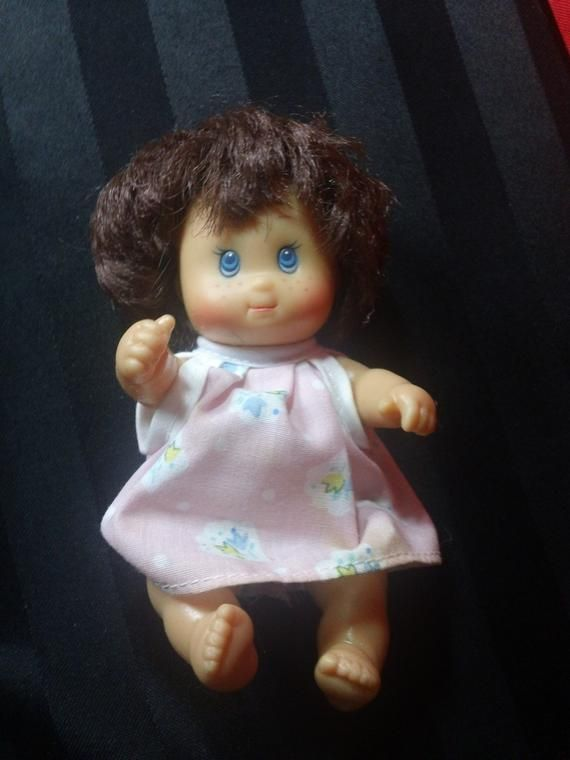Freckled Baby Doll in Pink Sundress and Short Brown Hair Vintage 1994 Cititoy Vinyl Doll #shortsundress
