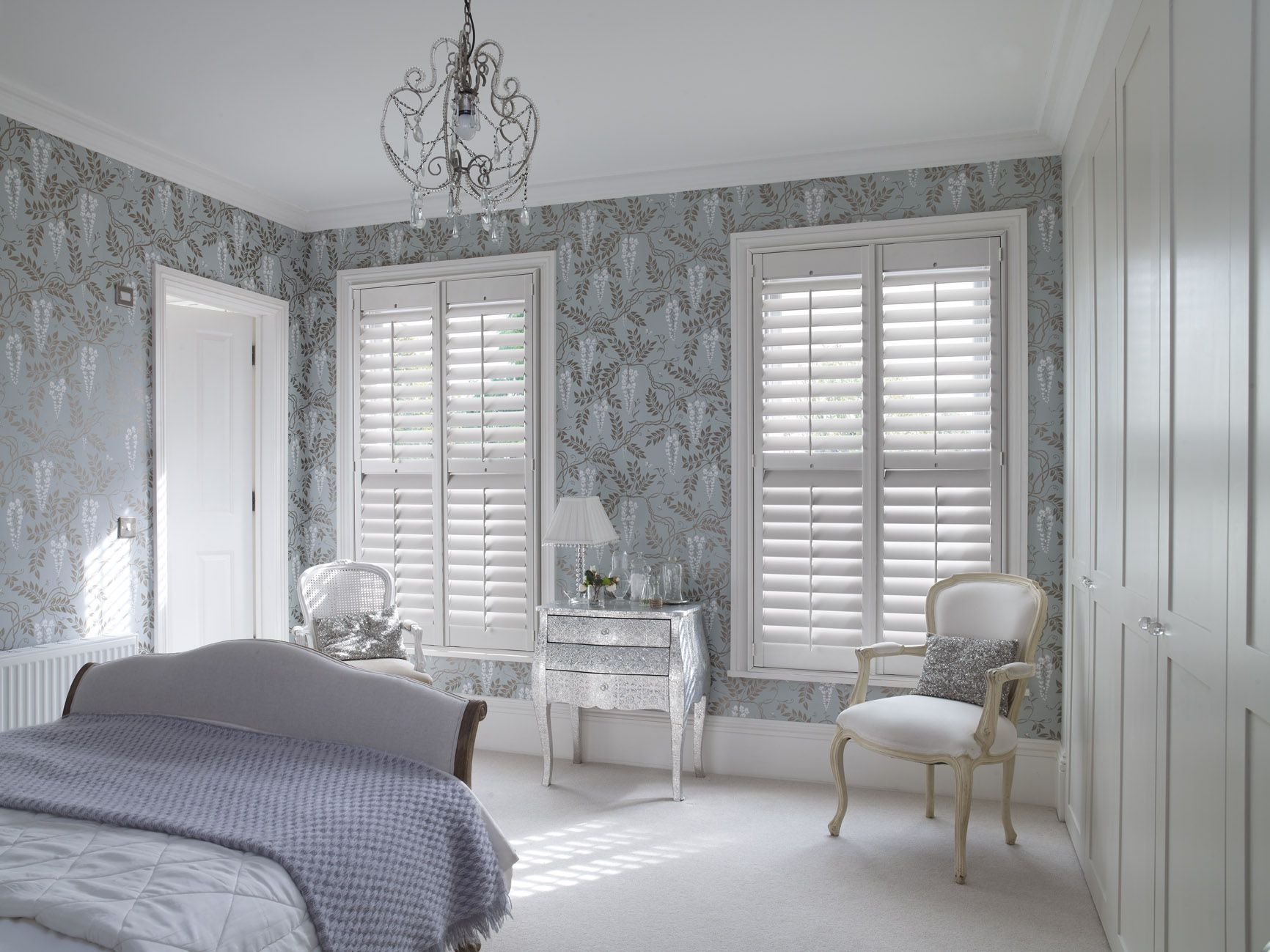 Bedroom shutters home deco pinterest bedrooms curtain styles
