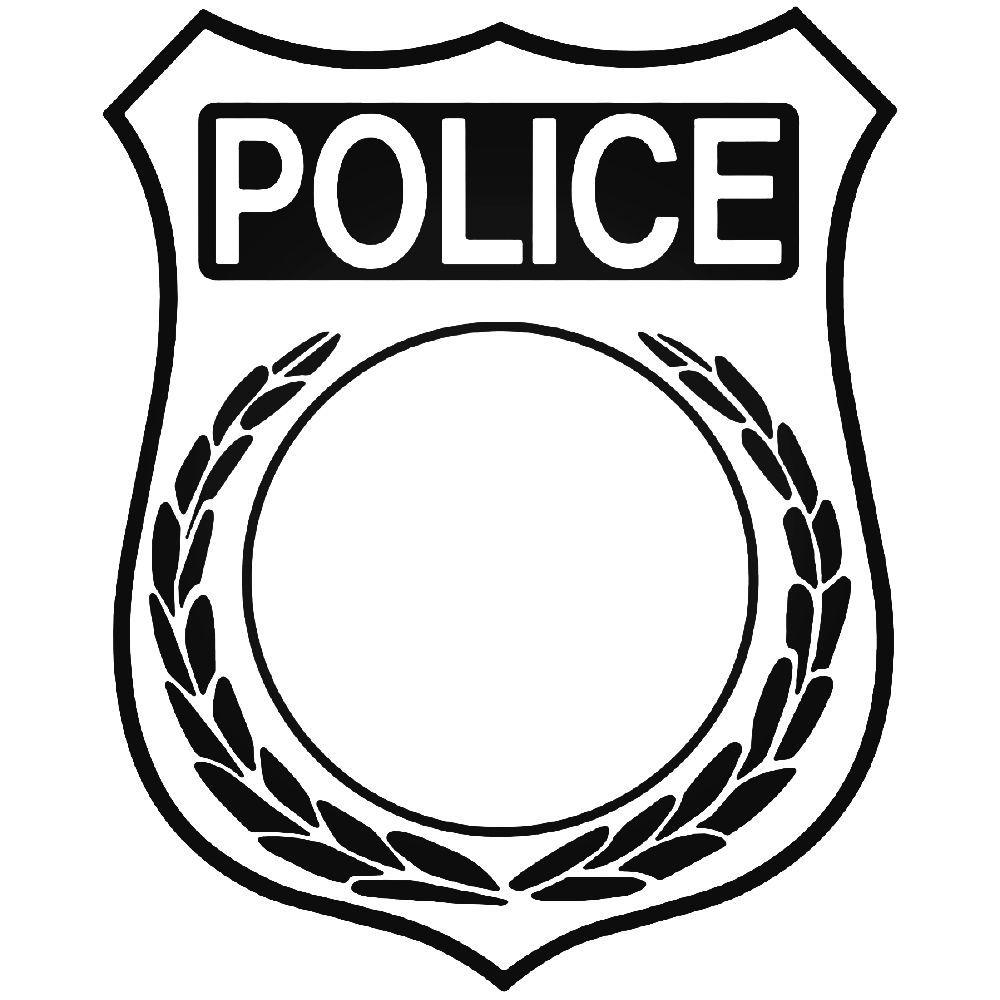 Police Badge Symbol Vinyl Decal Sticker Community Helpers